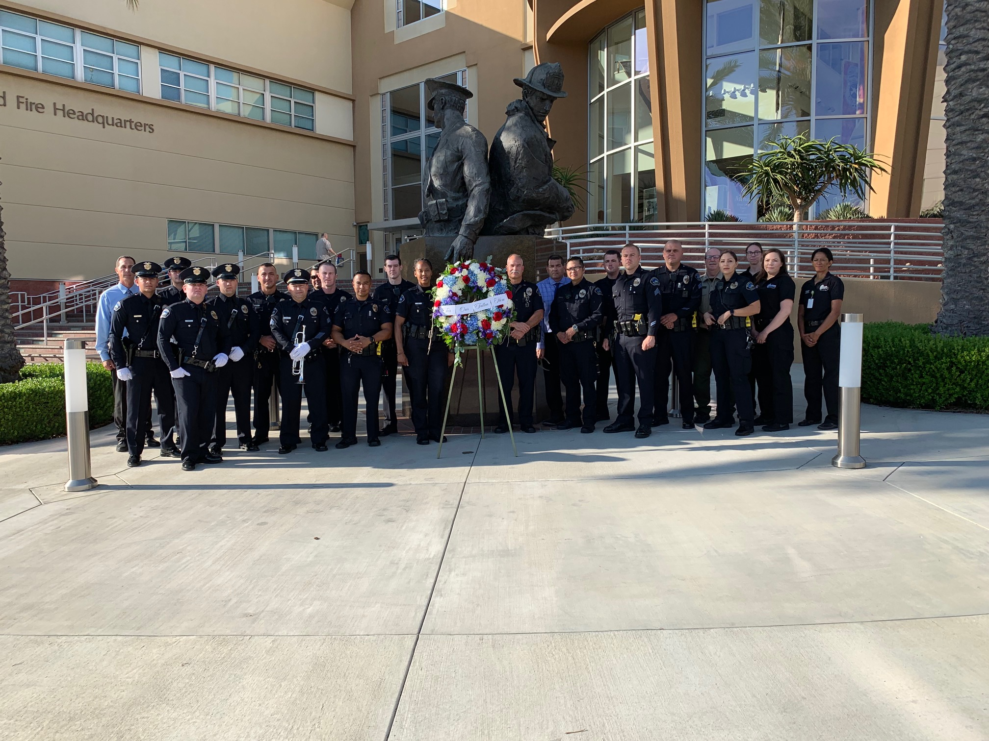 HONORING BURBANK POLICE DEPARTMENT FALLEN OFFICER