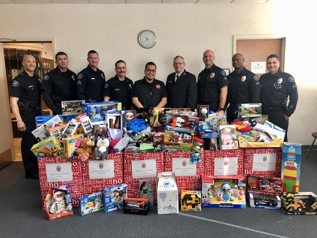 Members of the Burbank Police Officers' Association Donate Toys